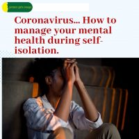 Coronavirus How to manage your mental health during self-isolation